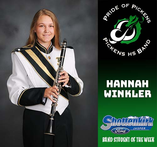 Hannah Winkler Named PHS Band Student of the Week