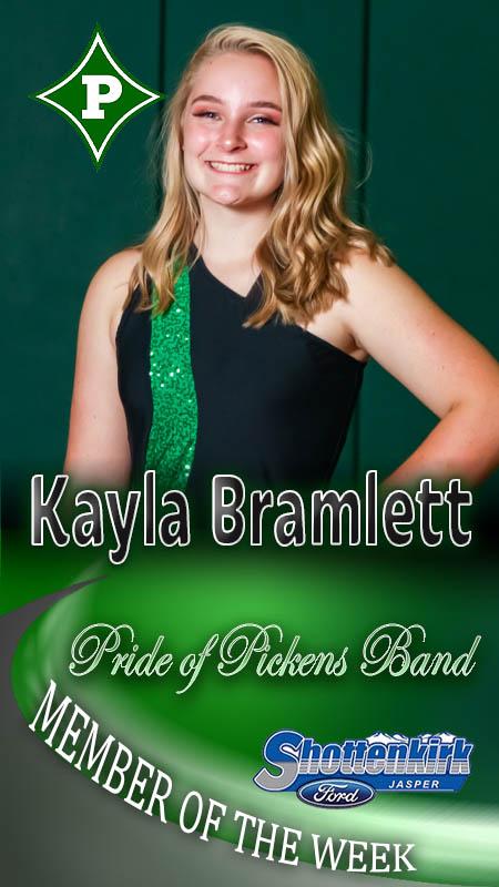 Kayla Bramlett Named PHS Band Member of the Week