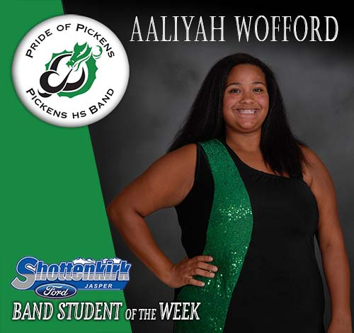 Aaliyah Wofford Named PHS Band Student of the Week