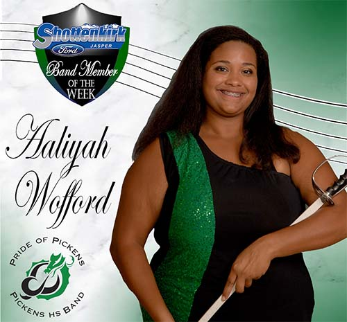 Aaliyah Wofford Named PHS Band Student of the Week