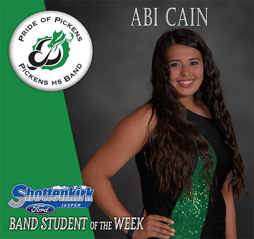 Abi Cain Named PHS Band Student of the Week