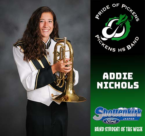 Addie Nichols Named PHS Band Student of the Week