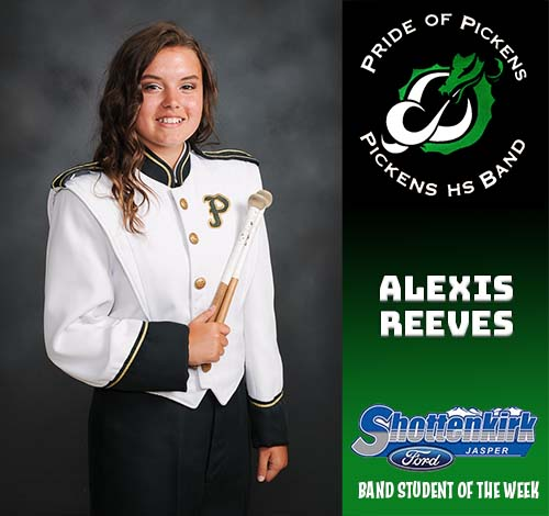 Alexis Reeves Named PHS Band Student of the Week
