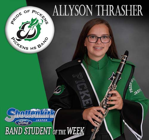 Allyson Thrasher Named PHS Band Student of the Week