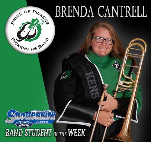 Brenda Cantrell Named PHS Band Student of the Week