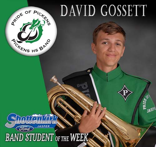 David Gossett Named PHS Band Student of the Week