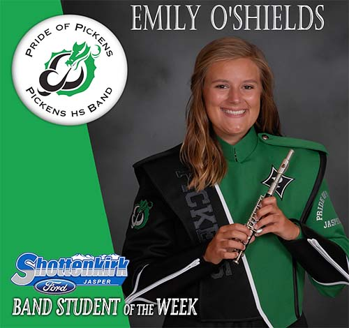 Emily O'Shields Named PHS Band Student of the Week