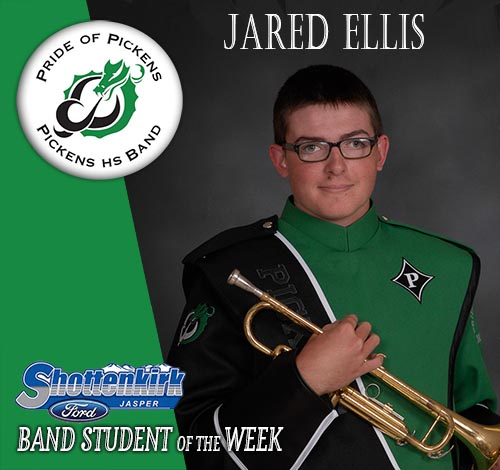 Jared Ellis Named PHS Band Student of the Week