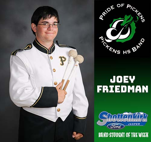 Joey Friedman Named PHS Band Student of the Week