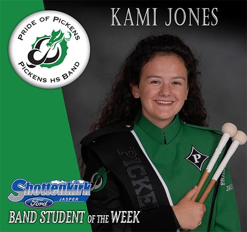 Kami Jones Named PHS Band Student of the Week