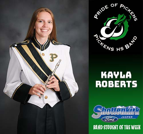Kayla Roberts Named PHS Band Student of the Week