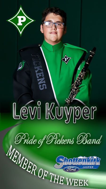 Levi Kuyper Named PHS Band Member of the Week