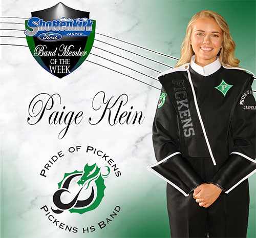 Paige Klein Named PHS Band Student of the Week