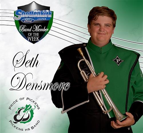 Seth Densmore Named PHS Band Student of the Week