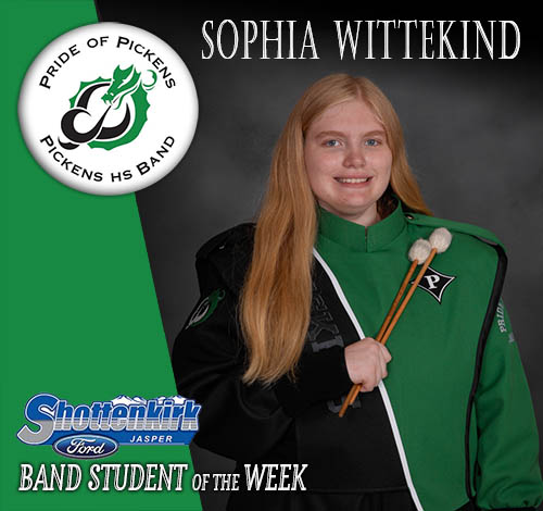 Sophia Wittekind Named PHS Band Student of the Week
