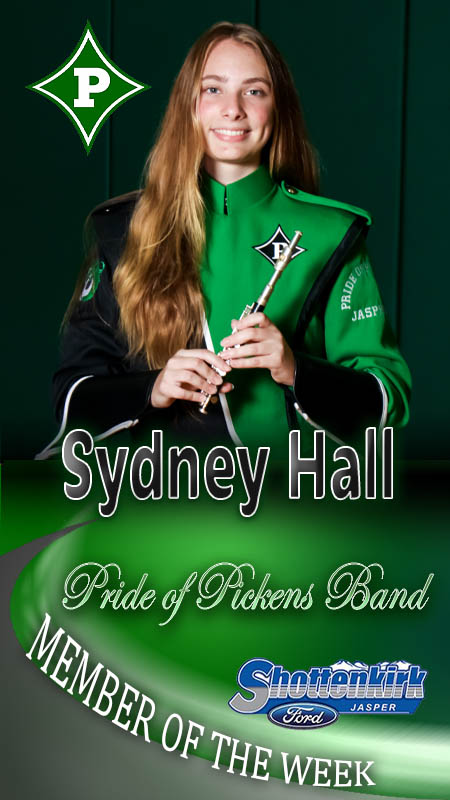 Sydney Hall Named PHS Band Member of the Week