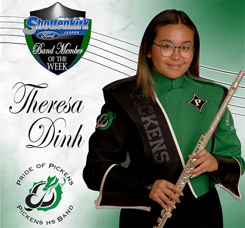 Theresa Dinh Named PHS Band Student of the Week