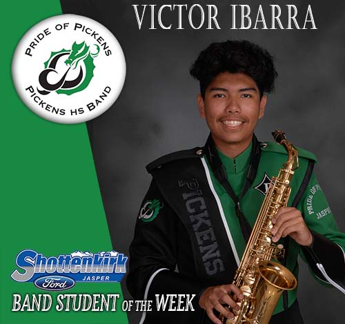 Victor Ibarra Named PHS Band Student of the Week