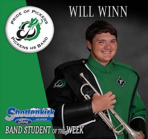 Will Winn Named PHS Band Student of the Week