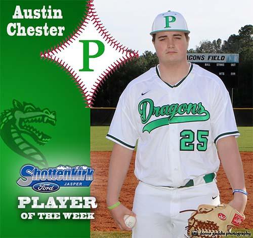 Austin Chester Named PHS Baseball Player of the Week