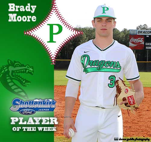 Brady Moore Named PHS Baseball Player of the Week