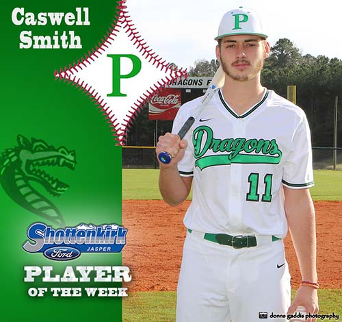 Caswell Smith Named PHS Baseball Player of the Week
