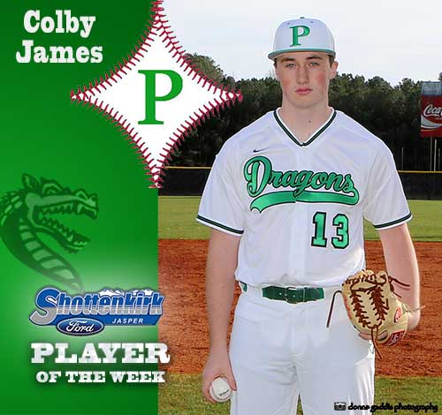 Colby James Named PHS Baseball Player of the Week