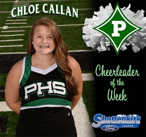 Chloe Callan Named PHS Cheerleader of the Week