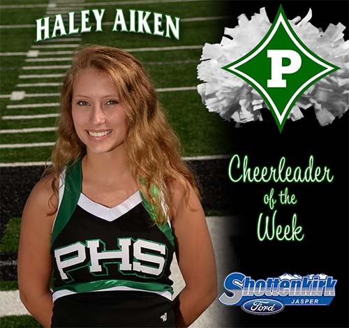 Haley Aiken Named PHS Cheerleader of the Week