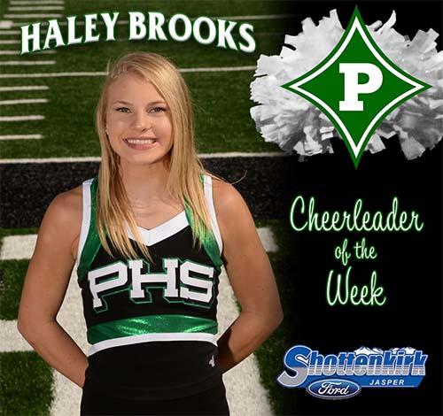 Haley Brooks Named PHS Cheerleader of the Week