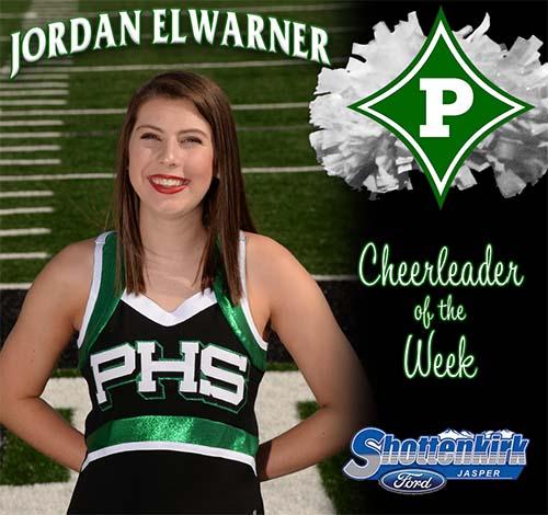 Jordan Elwarner Named PHS Cheerleader of the Week