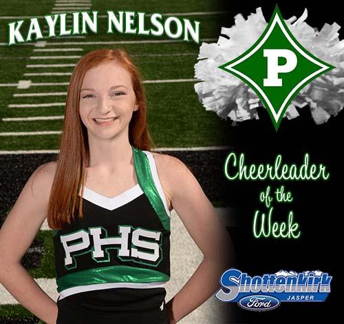 Kaylin Nelson Named PHS Cheerleader of the Week