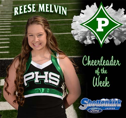 Reese Melvin Named PHS Cheerleader of the Week