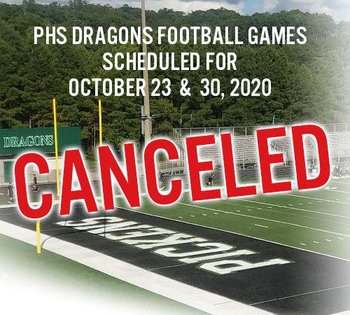 PHS Dragons Next Two Football Games Canceled Due to COVID-19 Health Concerns