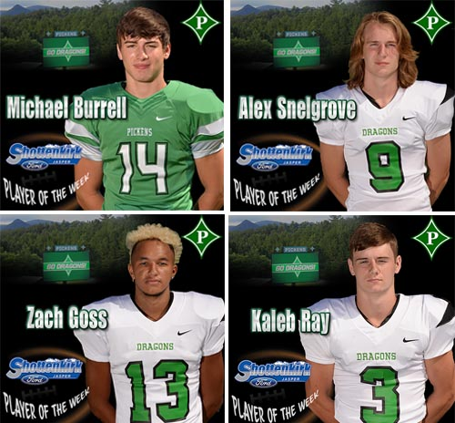 4-Way Tie For PHS Football Player of the Week