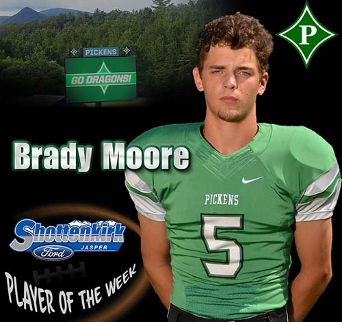 Brady Moore Named PHS Football Player of the Week