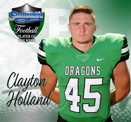 Clayton Holland Named PHS Football Player of the Week