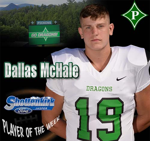 Dallas McHale Named PHS Football Player of the Week