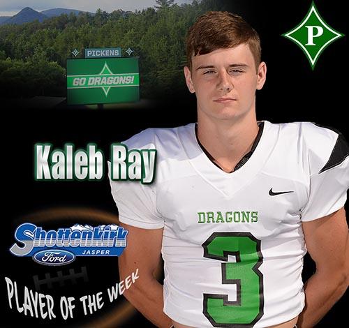 Kaleb Ray Named PHS Football Player of the Week