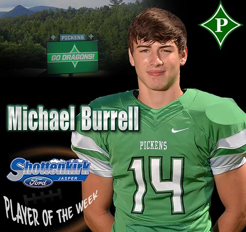 Michael Burrell Named PHS Football Player of the Week