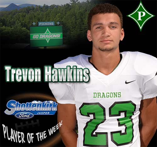 Trevon Hawkins Named PHS Football Player of the Week