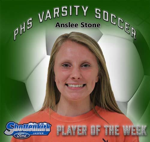 Anslee Stone Named PHS Girls Soccer Player of the Week