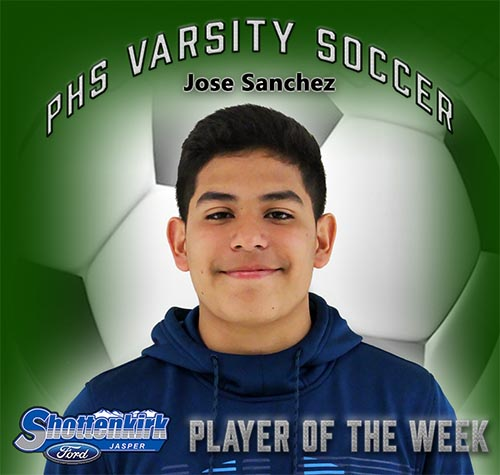 Jose Sanchez Named PHS Boys Soccer Player of the Week
