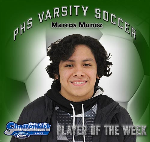 Marcos Munoz Named PHS Boys Soccer Player of the Week
