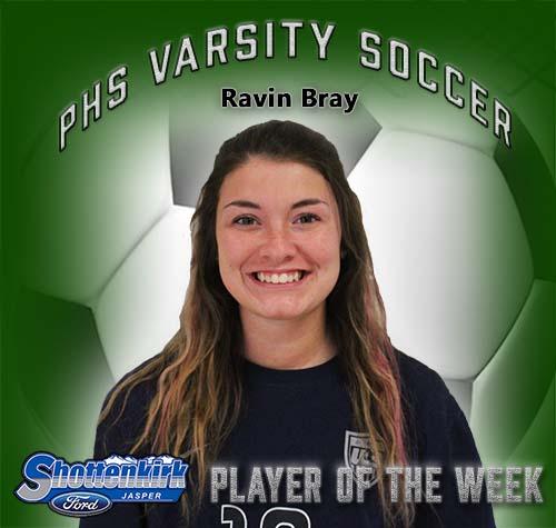 Ravin Bray Named PHS Girls Soccer Player of the Week