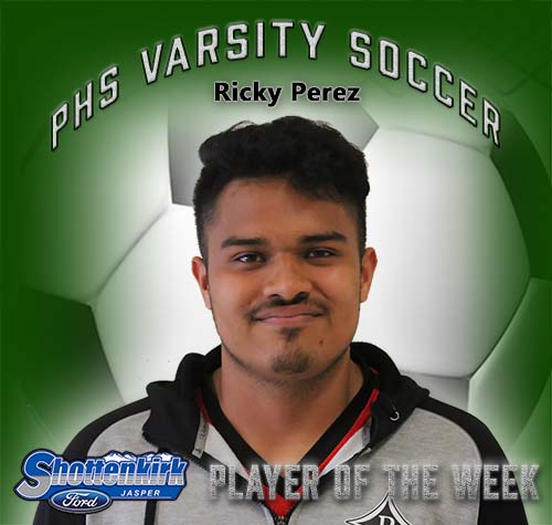 Ricky Perez Named PHS Boys Soccer Player of the Week