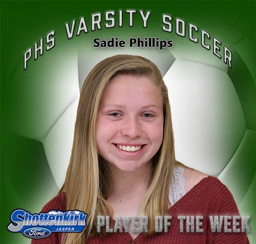 Sadie Phillips Named PHS Girls Soccer Player of the Week