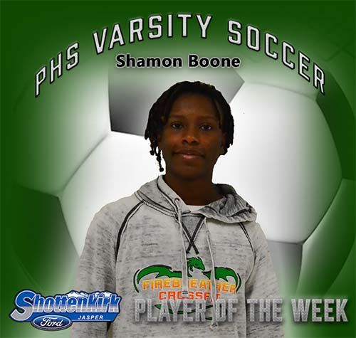 Shamon Boone Named PHS Boys Soccer Player of the Week