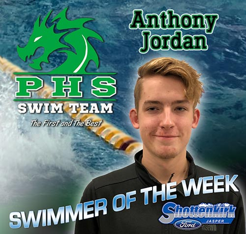Anthony Jordan Named PHS Boys Swimmer of the Week