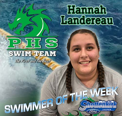 Hannah Landereau Named PHS Girls Swimmer of the Week